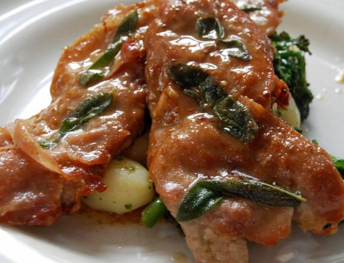 saltimbocca italian meal